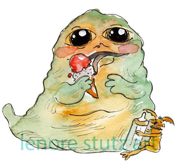 Star Wars Baby Nursery ArtBaby Jabba Jabba the by lenorestutz.