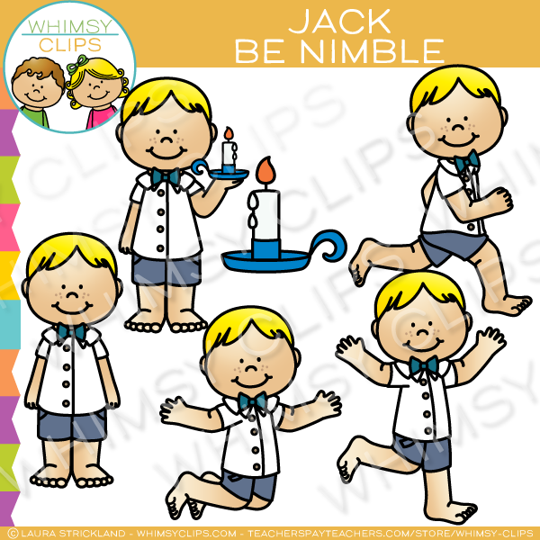 Jack Be Nimble Clip Art.