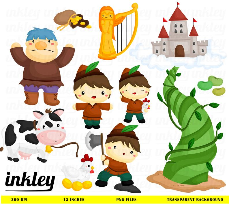 Jack and the beanstalk Clipart, Jack and the beanstalk Clip Art, Jack and  the beanstalk Png, Story Clipart, Giant Clipart, Cow Clipart.