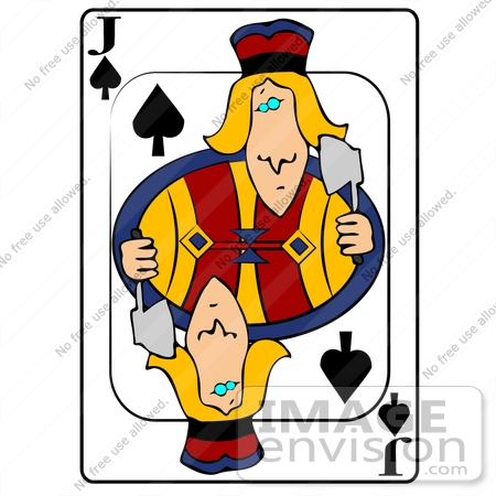 Jack Of Spades Clipart.