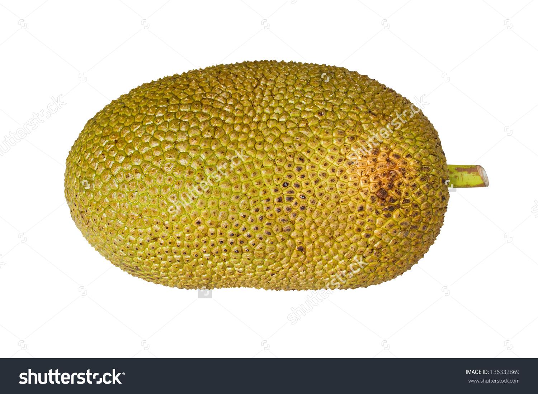 Jack Fruit Isolated On White Background Stock Photo 136332869.