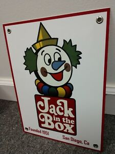 Details about Jack In The Box old logo Sign  Restaurant Fast Food.