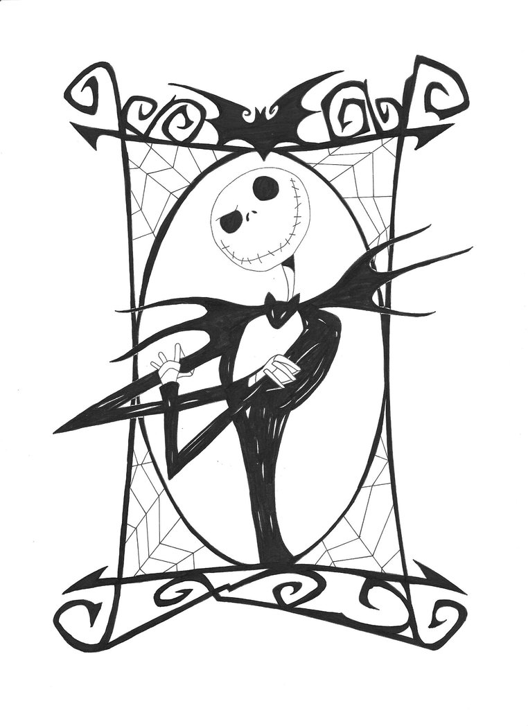 jack nightmare before christmas clipart - Clipground Jack And Sally Coloring Pages