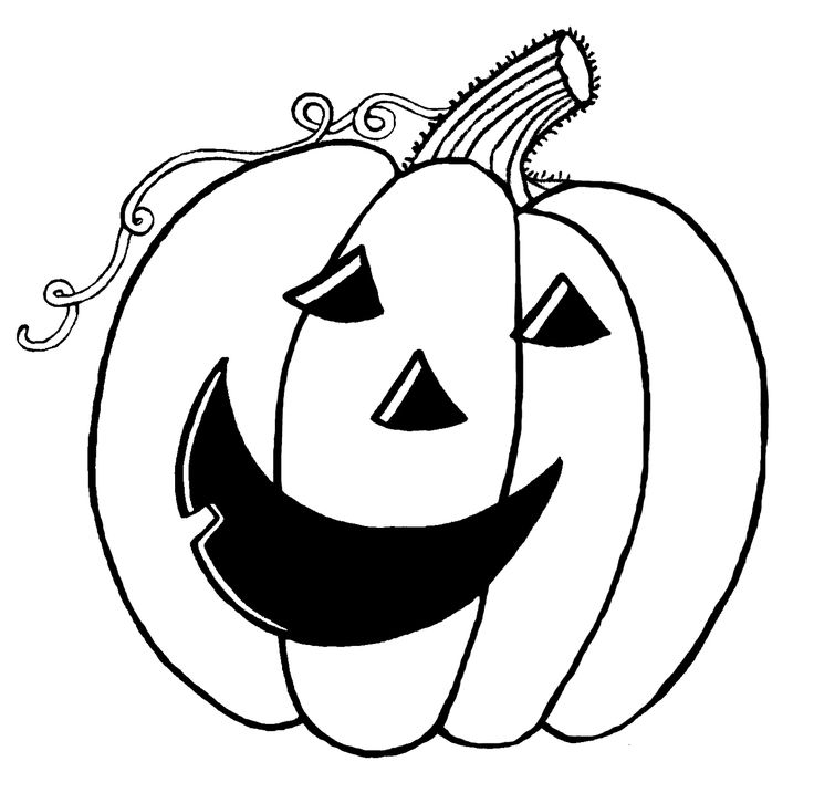 Jack O Lantern Clipart Black And White.