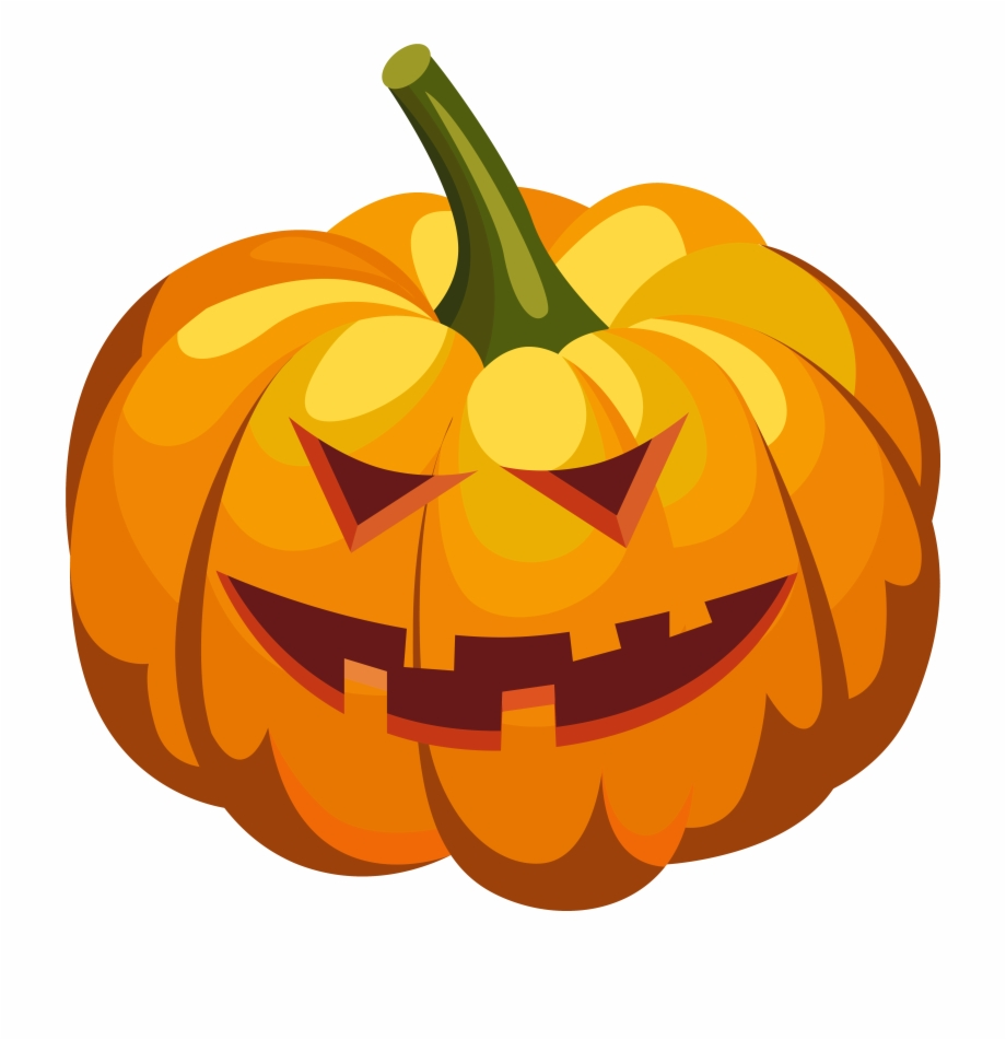 Scary Pumpkin Lantern Png Clipart Image.