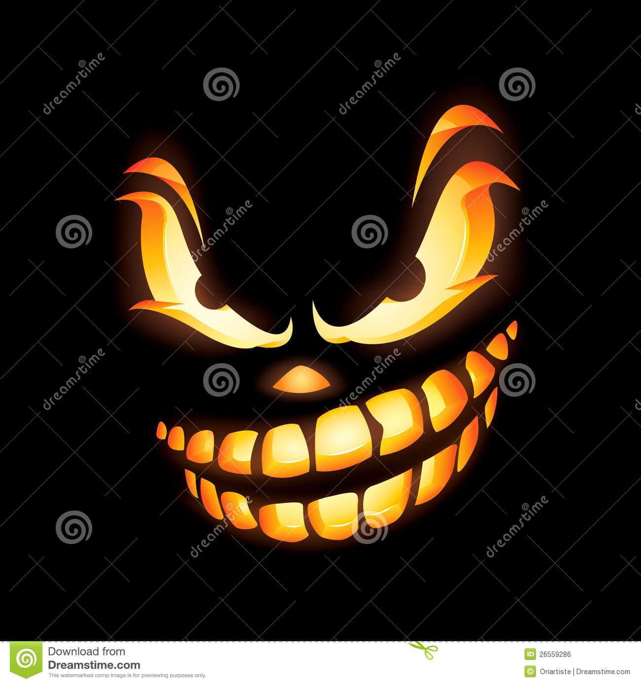 Scary Jack O Lantern Royalty Free Stock Image.