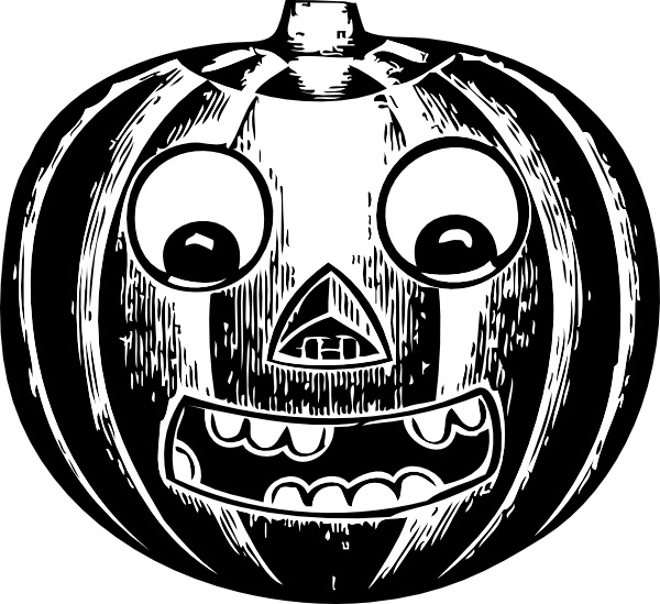 Jack O Lantern With Eyes clip art Free vector in Open office.
