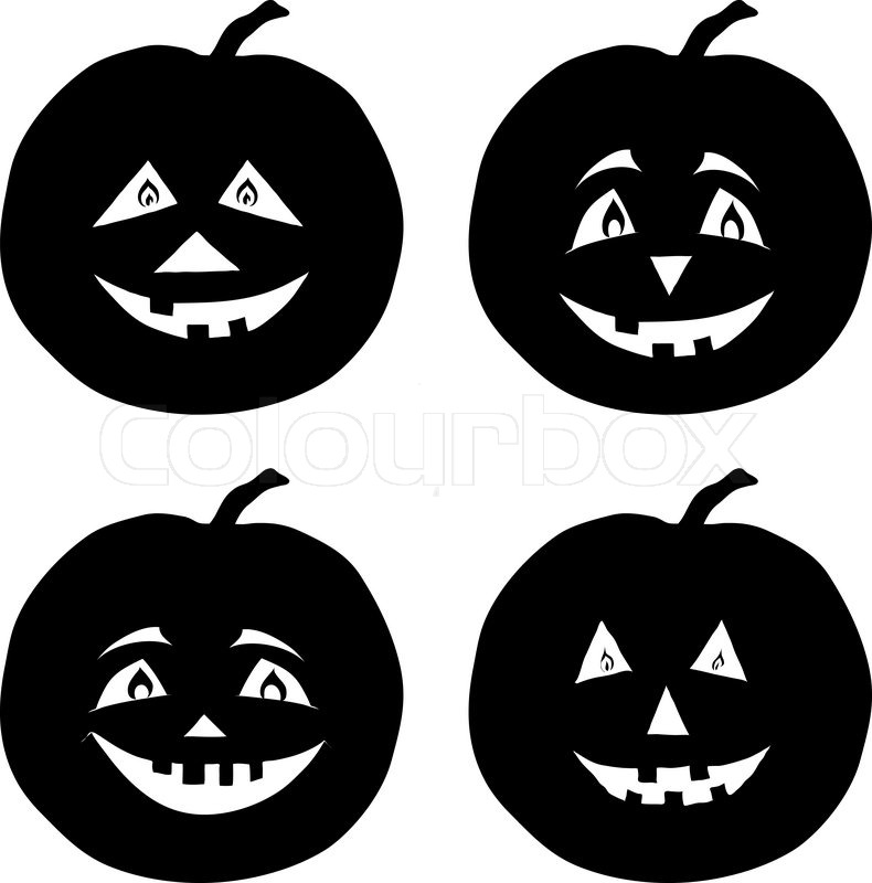 Download cute jack o lantern silhouette clipart Halloween Pumpkins.