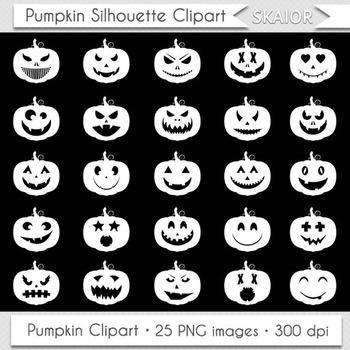 Pumpkin Clipart Halloween Clip Art Jack O Lantern Pumpkin Face Icons.