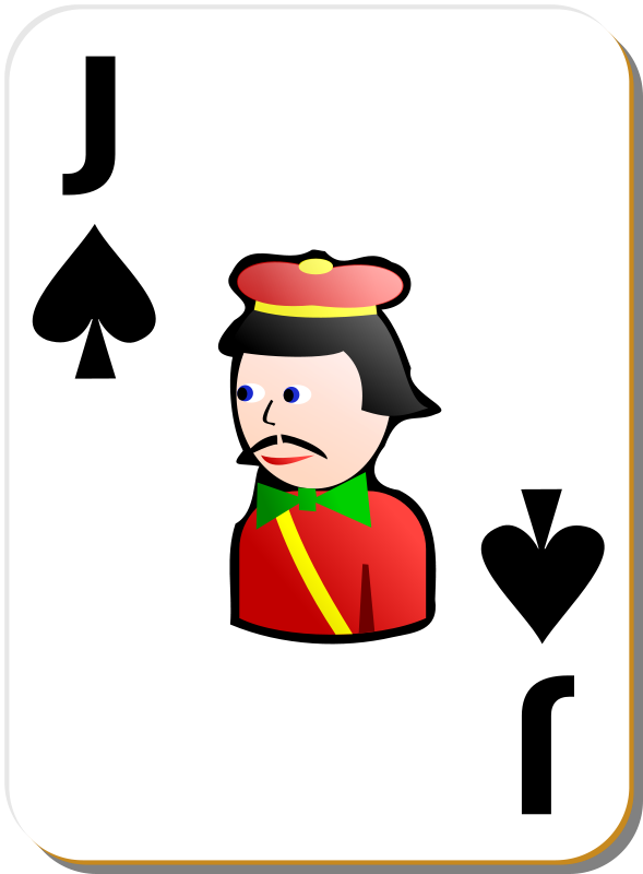 Free Clipart: White deck: Jack of spades.