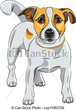 Vector Illustration of vector sketch dog Jack Russell Terrier.