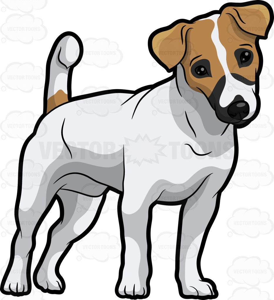 An Adorable Jack Russell Terrier Pup Cartoon Clipart.