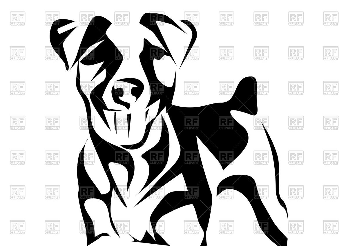 Outline of Jack russell terrier Vector Image #39934.