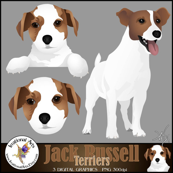 Jack russell clipart.