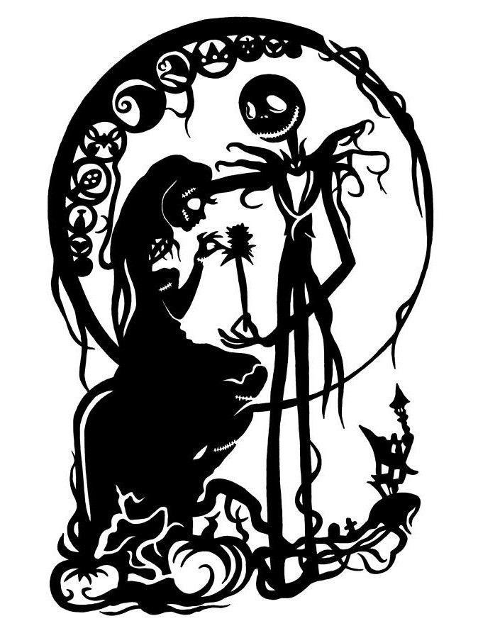 Jack and Sally; Skellington; Nightmare Before Christmas; Tattoo.