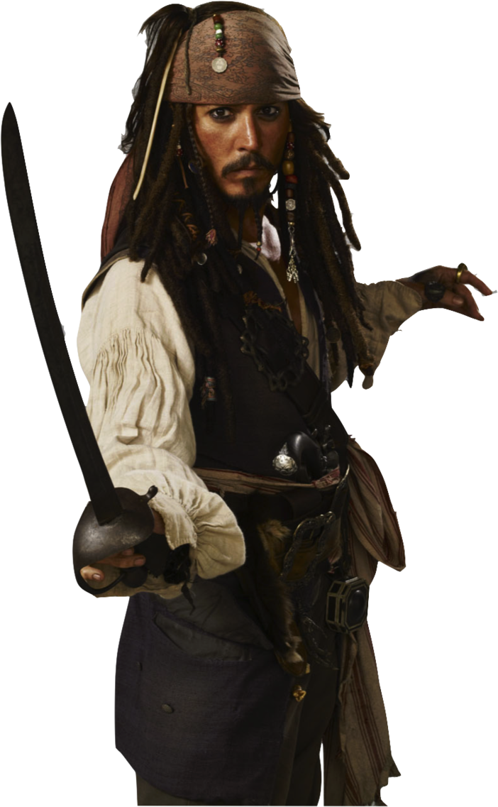 Captain Jack Sparrow PNG Transparent Images.