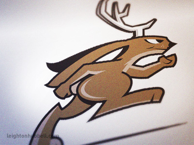 Jackalope logo by Leighton Hubbell on Dribbble.