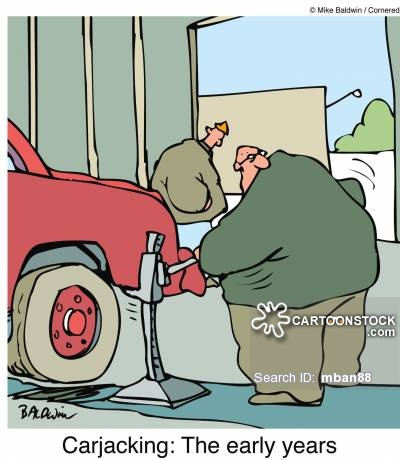 Car Jacking Cartoons and Comics.