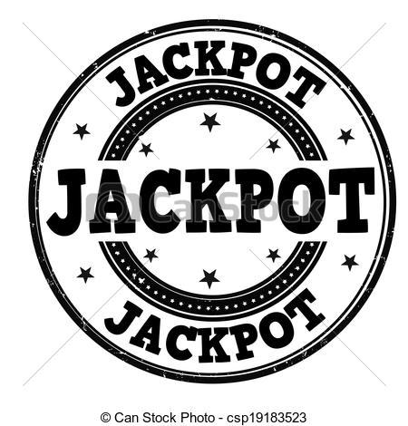 Vector Illustration of Jackpot stamp.