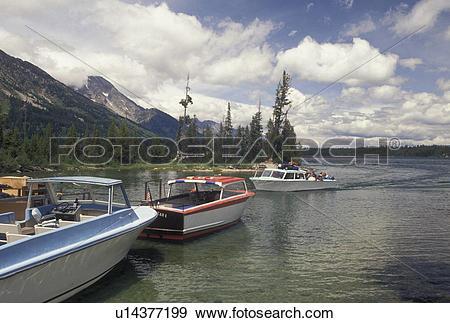 Stock Photograph of Grand Teton National Park, Jenny Lake, WY.