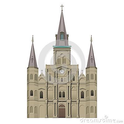 Jackson Square New Orleans Stock Illustrations.