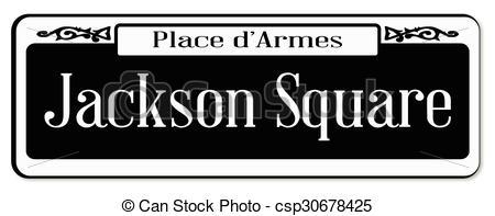 Vector Illustration of Jackson Square.
