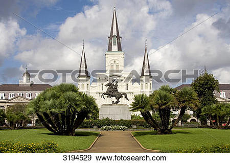 Stock Photograph of Statue at the Jackson Square, St. Louis.