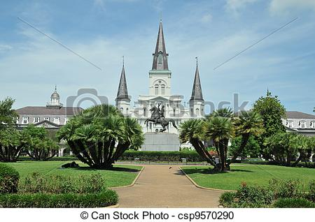 Stock Photography of Jackson Square in New Orleans, Louisiana, on.