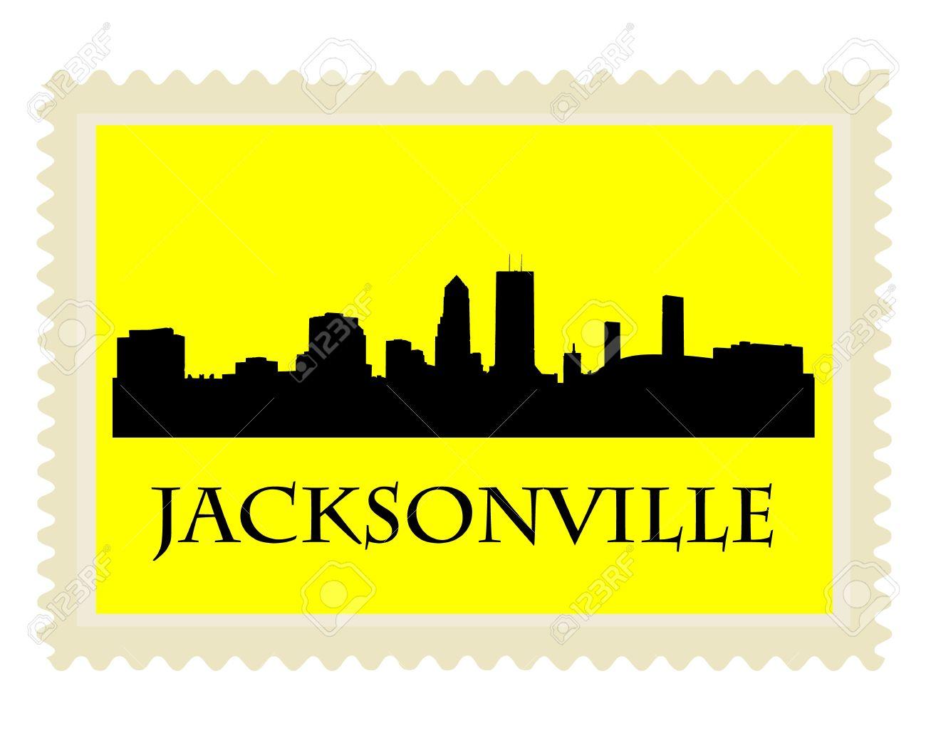 Jacksonville skyline clipart.
