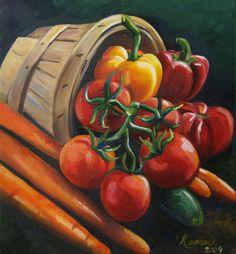 Sumptuous food: food theme computer painting: Fruit Basket.
