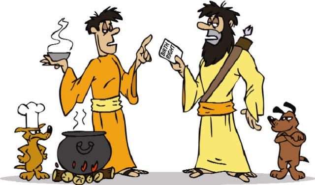 Clipart of jacob and esau angry.