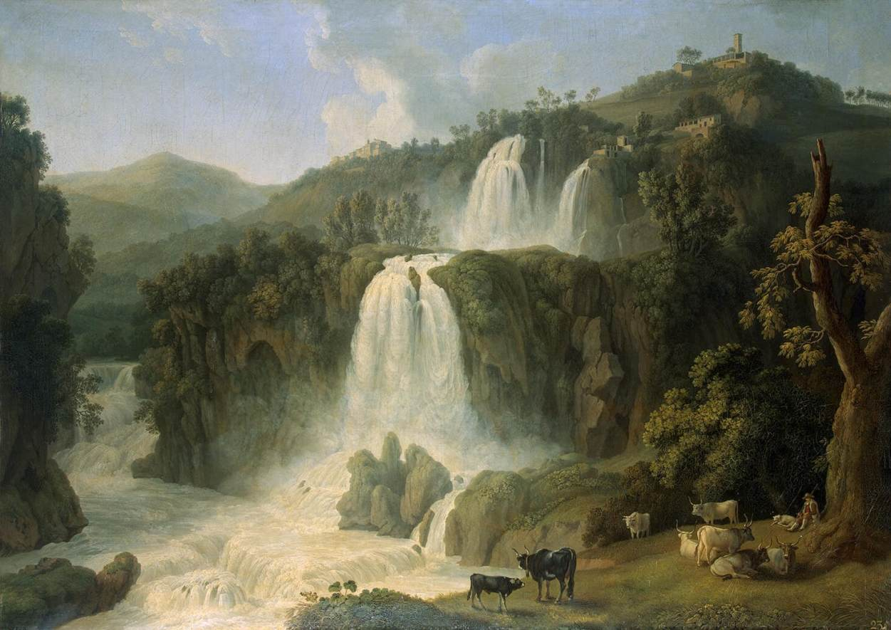 Cascades at Tivoli by Jacob Philipp Hackert.