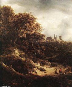 Champs de blé (2), huile sur toile de Jacob Isaakszoon Van.
