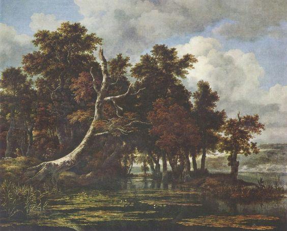 Jacob Isaaksz. van Ruisdael. Landschaft mit Eichenwald. 2. Drittel.