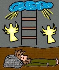 Jacobs ladder clipart.