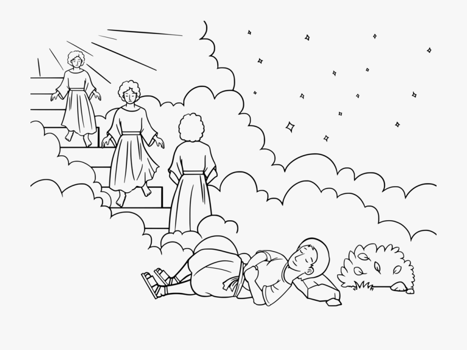 Bible Jacob's Ladder Coloring Book Jacob And Esau Dream.