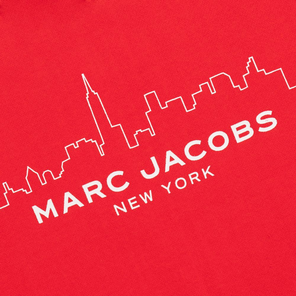 LITTLE MARC JACOBS Teen Boys Red Logo Sweatshirt.