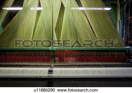 Stock Photography of Close up view of Jacquard loom with pattern.