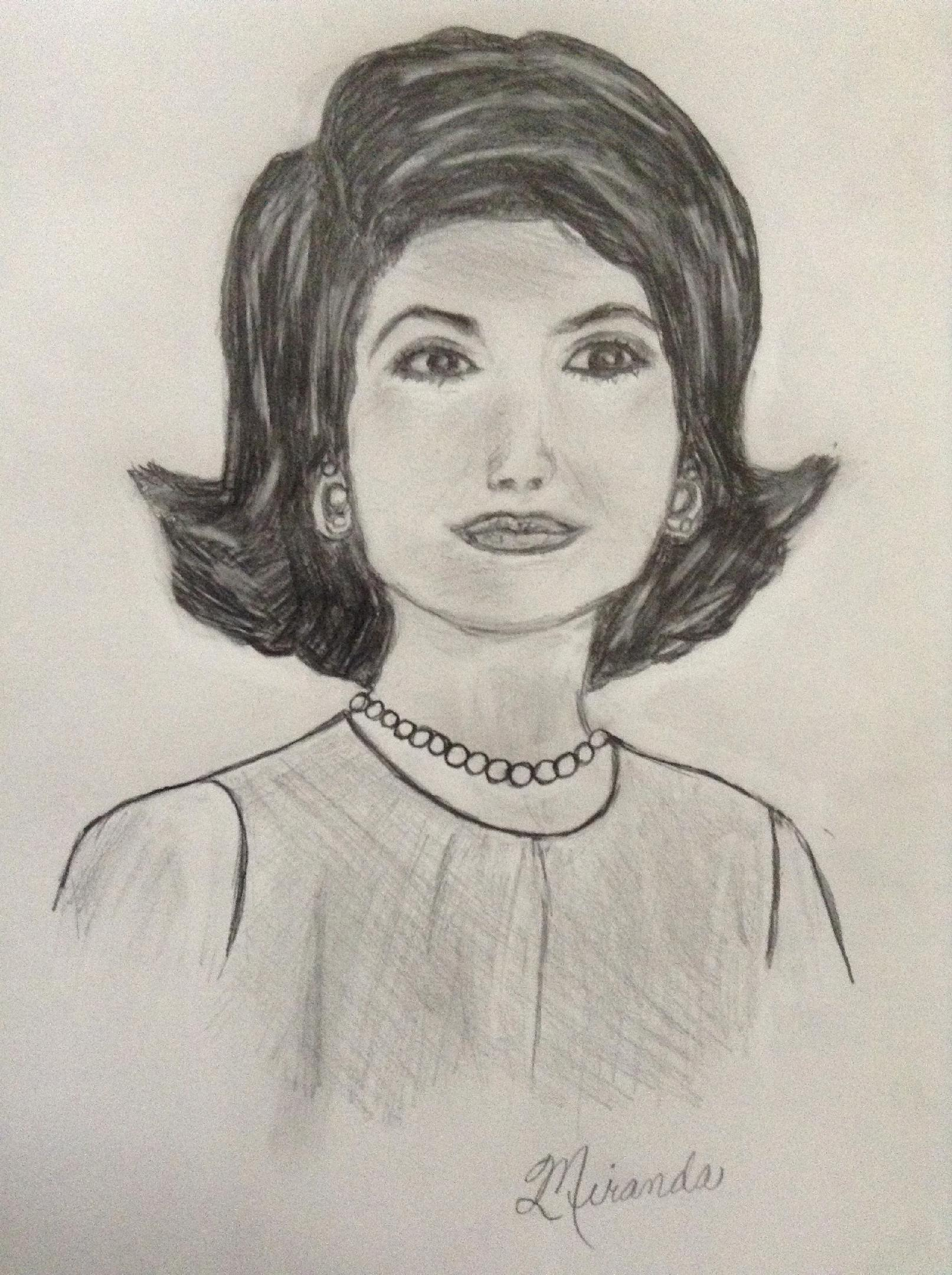 Jackie Kennedy Onassis Drawing Clip Art.