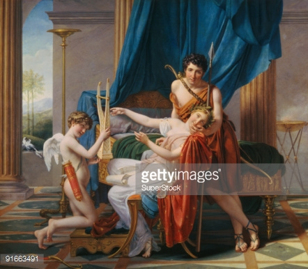 The Oath Of Horatii 1784 By Jacqueslouis David Oil On Canvas.