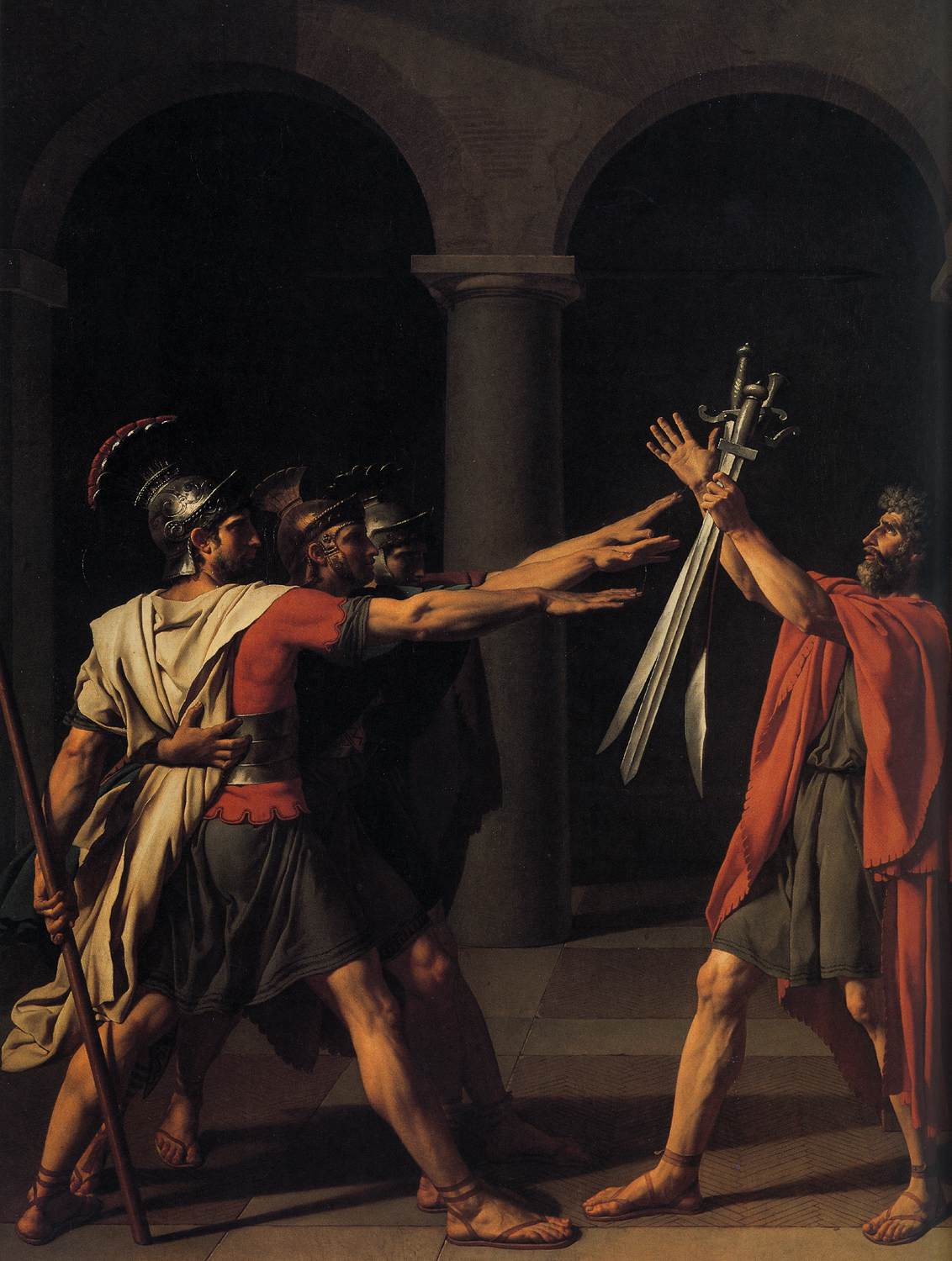 The Oath Of The Horatii David.