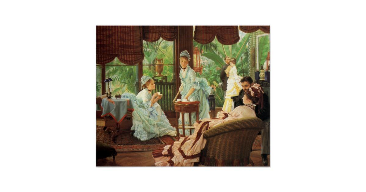James Tissot Victorian Tea Party Poster.