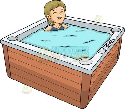 Jacuzzi Cartoon Clipart.