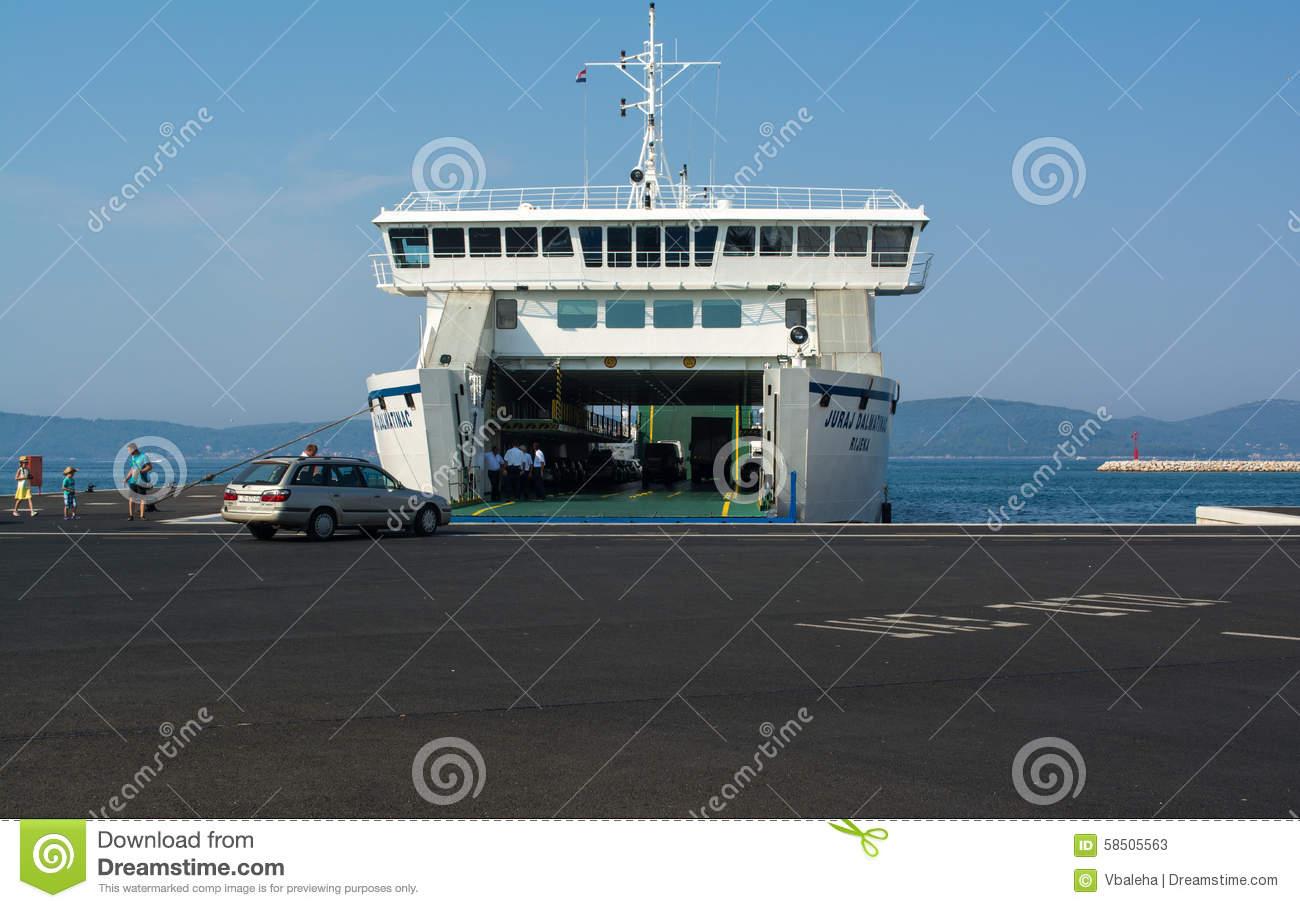 Jadrolinija Ferry Boat. Croatia Editorial Image.