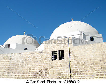 Clipart of Jaffa domes of Mahmoudiya Mosque 2010.