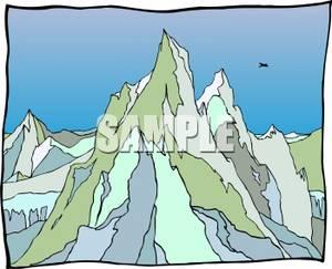 Jagged Mountain Range.