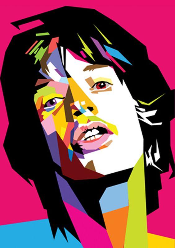 Mick Jagger in WPAP by wedhahai.deviantart.com on @deviantART.