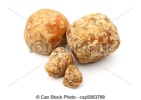 Stock Photographs of Fresh Jaggery.