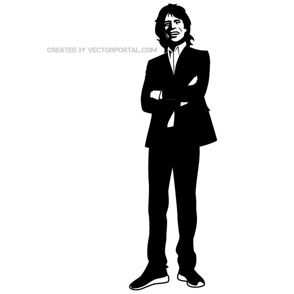 Mick Jagger Clip Art.