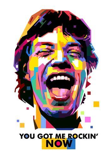 Mick Jagger (Wedha's Pop Art Portrait) by Toni Agustian.